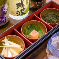 お好み琉球小鉢3種盛 お酒の進む一品料理を選べます