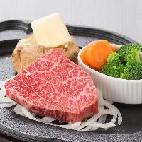 鹿児島産黒毛和牛をステーキやハンバーグで堪能!