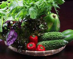 地元の新鮮な野菜です。
