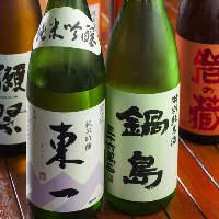 焼酎はもちろん佐賀県の地酒「東一」「鍋島」など日本酒もご用意