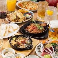 【コース】 魚料理をメインに肉料理も堪能できる内容が自慢