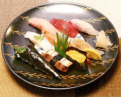 天然物にこだわった寿司。 味わってみてください。