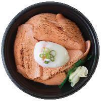 炙りサーモン温玉丼