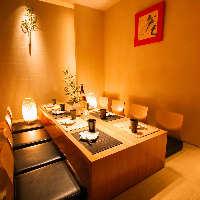 新鮮な食材を使った本格和食の数々。 活魚のお造りもおすすめ!!