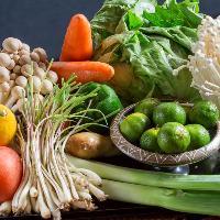 【食 材】 獲れたて鮮魚や沖縄の野菜など地元の食材を使用◎