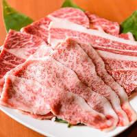 [上質なお肉] サシの入ったロースやカルビ等も食べ放題です!