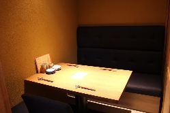 個室完備。ゆっくり味わいながら食事を楽しんでもらいたい♪