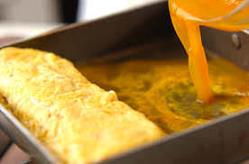 【出汁巻き玉子】 トビ魚の出汁が効いたほっこり定番の一品