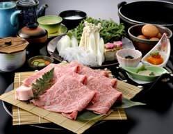 ●ディナーメニュー● 極上鹿児島黒牛 すき焼き\7,600