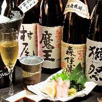 九州各県の銘焼酎・3M・スペシャル焼酎・大吟醸など揃えてます