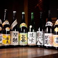 【お酒】 福岡を中心に厳選入荷する地酒を肴とともに堪能
