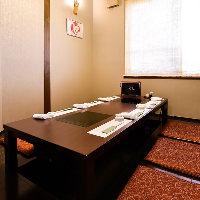 ご接待にも最適!2階掘りごたつ席は完全個室となっております。