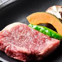 「黒毛和牛の陶板焼き」は九州産の厳選黒毛和牛を使用!