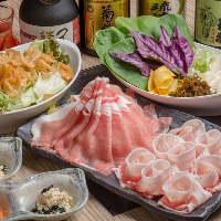 宴会コースは、しゃぶしゃぶか七輪焼が選べる全7品〜ご用意。