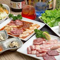 各コース料理には、泡盛も飲める2時間飲み放題を追加できます。