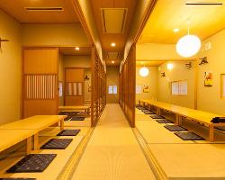 2階には最大70名様までの大宴会場もご用意可能です!