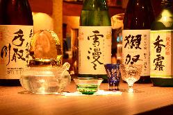 熊本県産や人気の日本酒をどうぞ。 獺祭(だっさい)入荷しました
