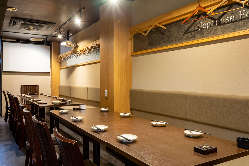 ●一階テーブル宴会席です。30名様までご利用いただけます。