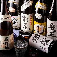 獺祭、森伊蔵、魔王など人気の日本酒・焼酎もございます