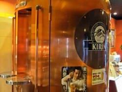 巨大なビアタンク♪美味しいビールと焼肉で堪能下さい!