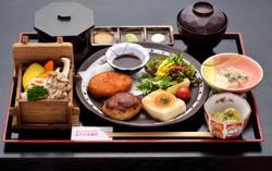 人気の五右衛門膳 (豆腐ステーキ・豆腐ハンバーグ・おからコロッケ)