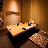 【個 室】 他のお客様に気兼ねすることなく使える完全個室です