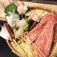 厳選食材を使用!お肉はもちろん魚介もこだわってます