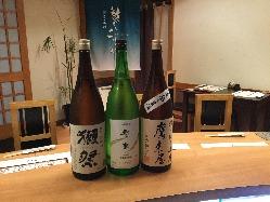 九州の地酒をはじめ、豊富な種類の焼酎や日本酒をご提供♪