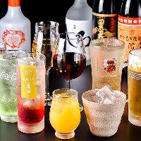 【ドリンク】 地酒や焼酎の他にカクテルや果実酒など種類豊富