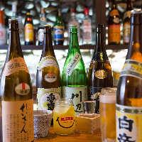福岡の地酒や焼酎も味わえます