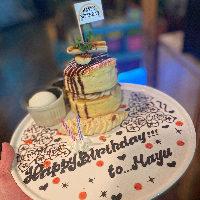 【お祝いコース】2980円でパンケーキ!様々な特典も有り