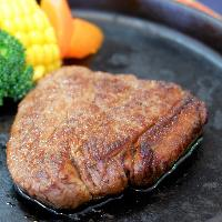 自社肥育のあか牛のステーキ★ジューシーで柔らかい♪