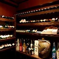 セラー完備。 全国各地の【酒】をご自身でお選び頂けます。