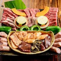 沖縄の思い出の1ページに。当店オリジナル『シーサー盛り焼肉』