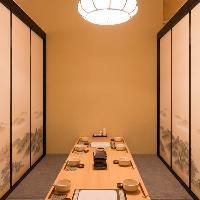接待向けのお席もご用意!周囲を気にせずお食事を楽しめる空間。