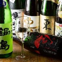 【季節の銘酒】 定番から旬の日本酒まで幅広いラインナップ