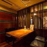 少人数宴会や出張者との会食にオススメの4名様テーブル席