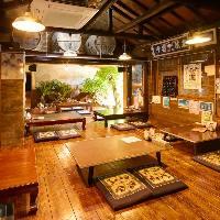 沖縄の古民家を改装した、昭和の雰囲気満載の店内でごゆっくり♪