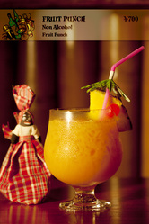 ノンアルコールもおシャレに トロピカルに仕上げます。