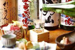 こだわりの日本酒は全国のものをご用意しています。