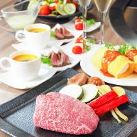 こだわり牛肉を使った鉄板焼きは絶品です。