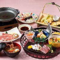 旬の食材を使った料理が堪能できるコースは、忘年会や新年会に◎