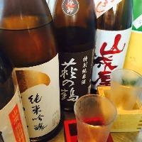 お魚にぴったり合う日本酒各種銘柄揃っております!