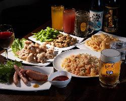 自慢のアジアンフードや一品料理が楽しめる『パーティプラン』