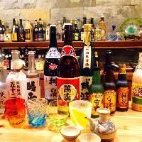 沖縄の地酒「泡盛」の種類は豊富。 お客様好みの泡盛をどうぞ。