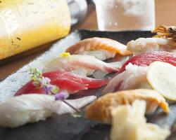 羽釜で炊いた銀シャリは寿司でご堪能ください。