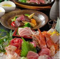 新鮮魚介や博多名物が楽しめるコース料理多数!