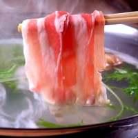 鹿児島県産、黒豚しゃぶしゃぶ食べ放題3,480円(税抜)