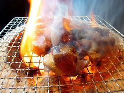 七輪焼は常に焼き立て熱々をいただけます。