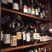 手頃な価格で種類豊富なワインも♪